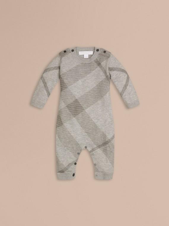 Check Cashmere Cotton Jumpsuit