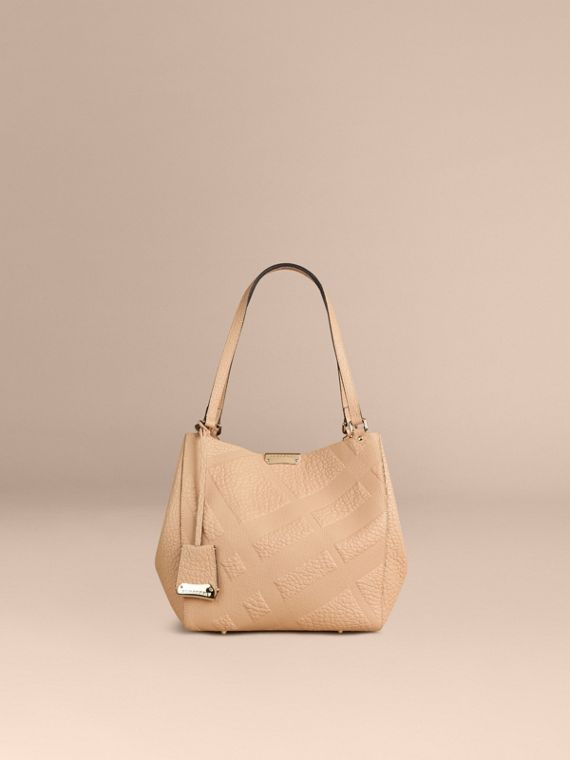 Pale apricot The Small Canter in Embossed Check Leather Pale Apricot - cell image 2