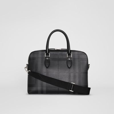 Cuir Case Attaché Motif À Avec Medium Éléments London Check En FRxzwOqRd
