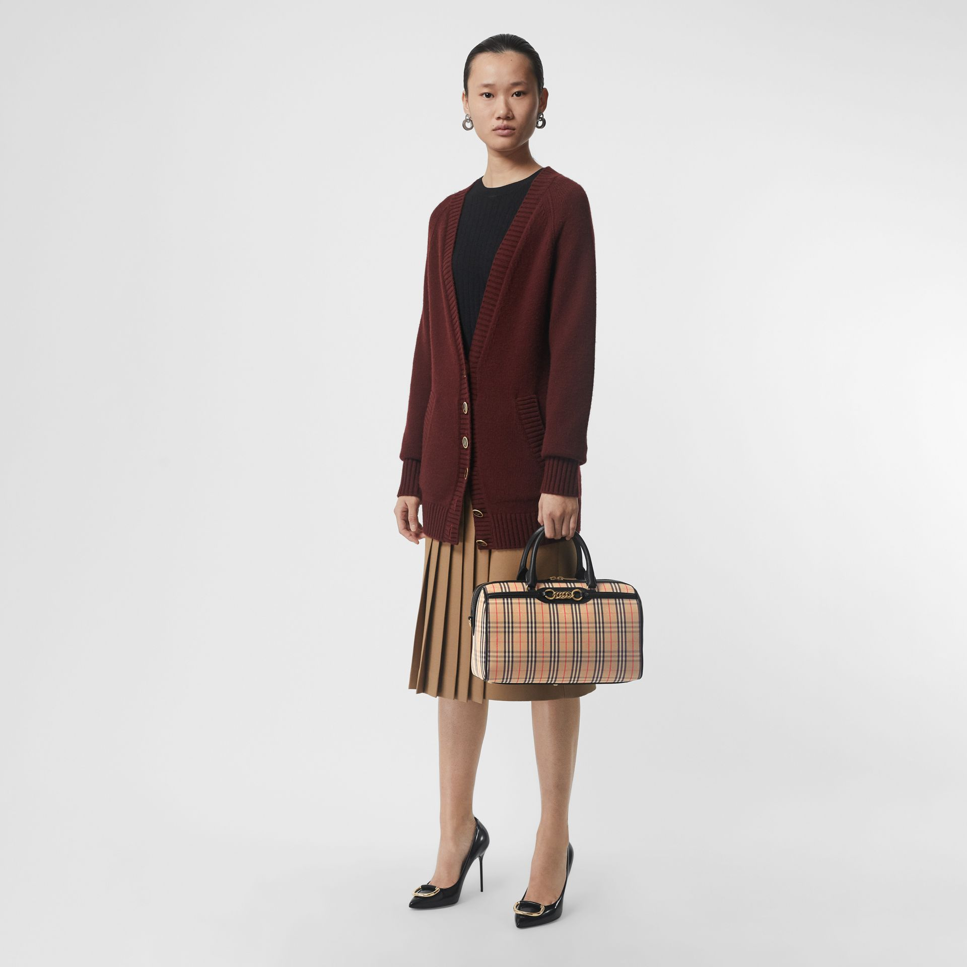 The Medium Link Bowling Bag im Karodesign (Schwarz) - Damen | Burberry - Galerie-Bild 2