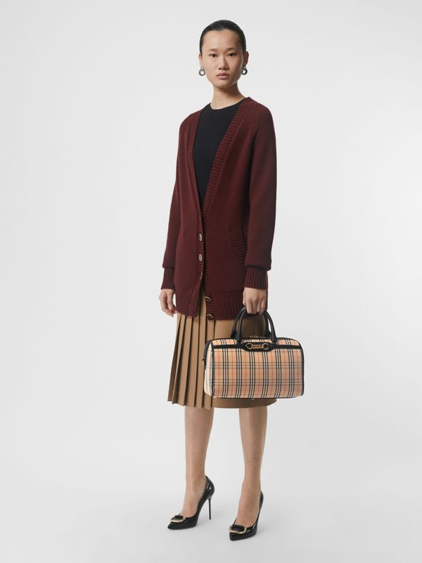 The Medium Link Bowling Bag im Karodesign (Schwarz) - Damen | Burberry - cell image 2