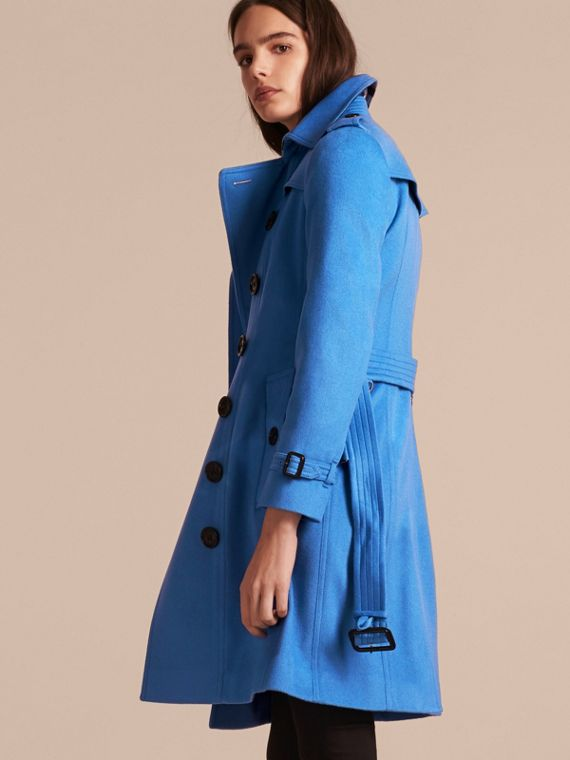 Cornflower Sandringham Fit Cashmere Trench Coat Cornflower - cell image 2