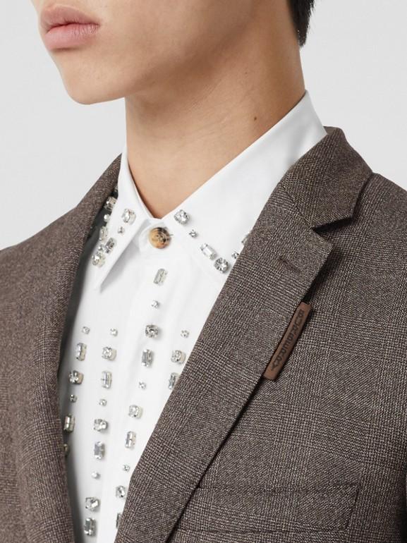 Slim Fit Wool Suit in Dark Brown - Men | Burberry - cell image 1