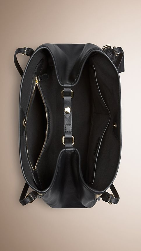 Honey/black The Small Canter in Horseferry Check and Leather - Image 6