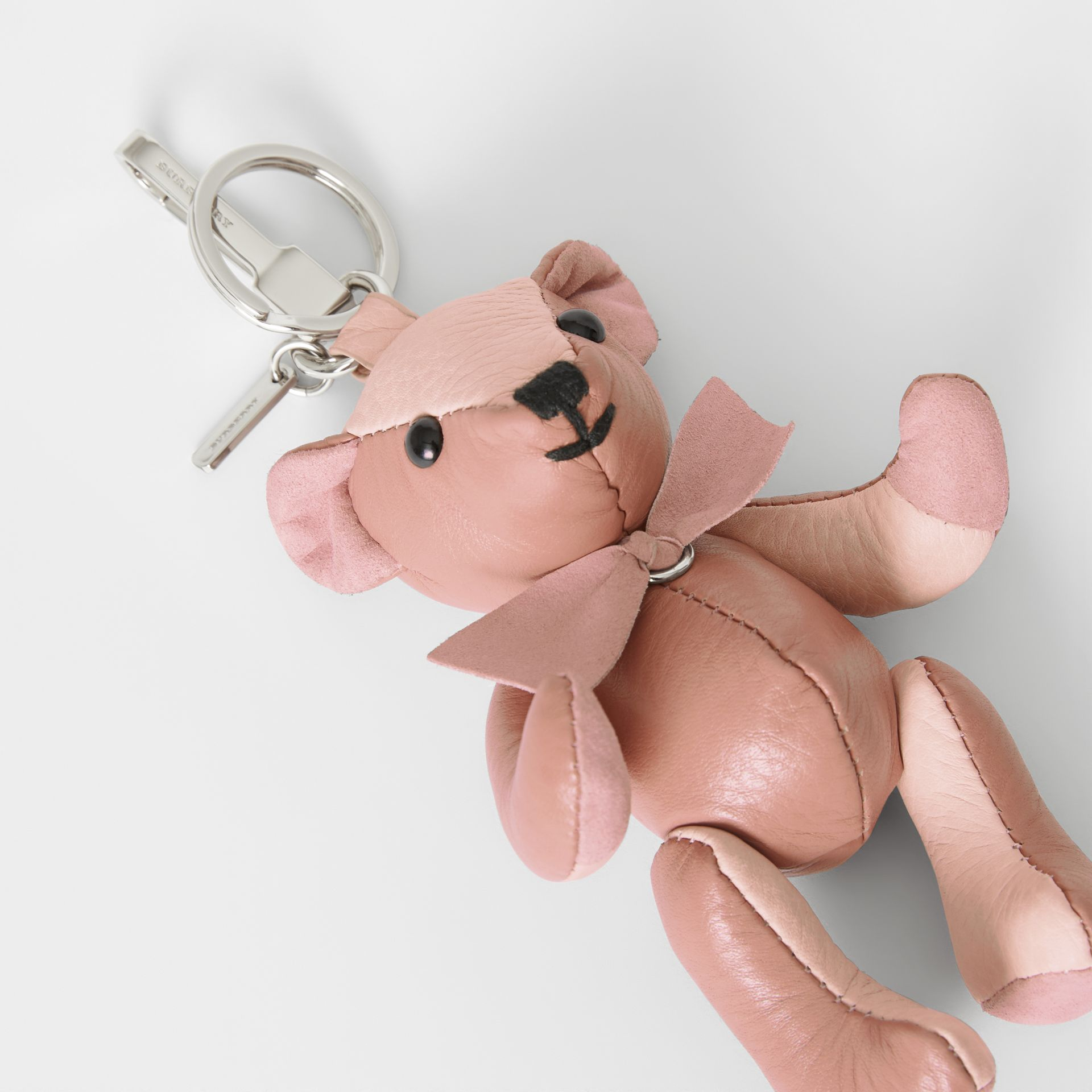 Thomas Bear Charm in Leather in Copper Pink/chalk Pink - Women | Burberry Singapore - gallery image 1