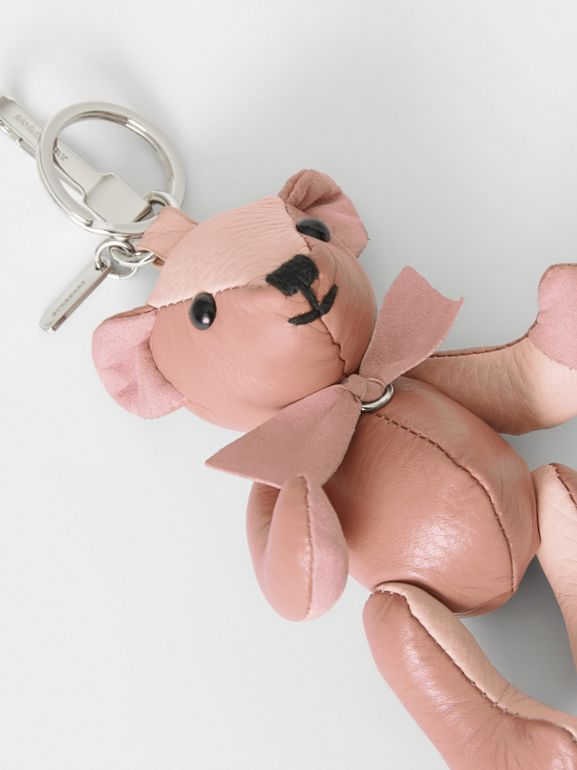 Thomas Bear Charm in Leather in Copper Pink/chalk Pink - Women | Burberry - cell image 1