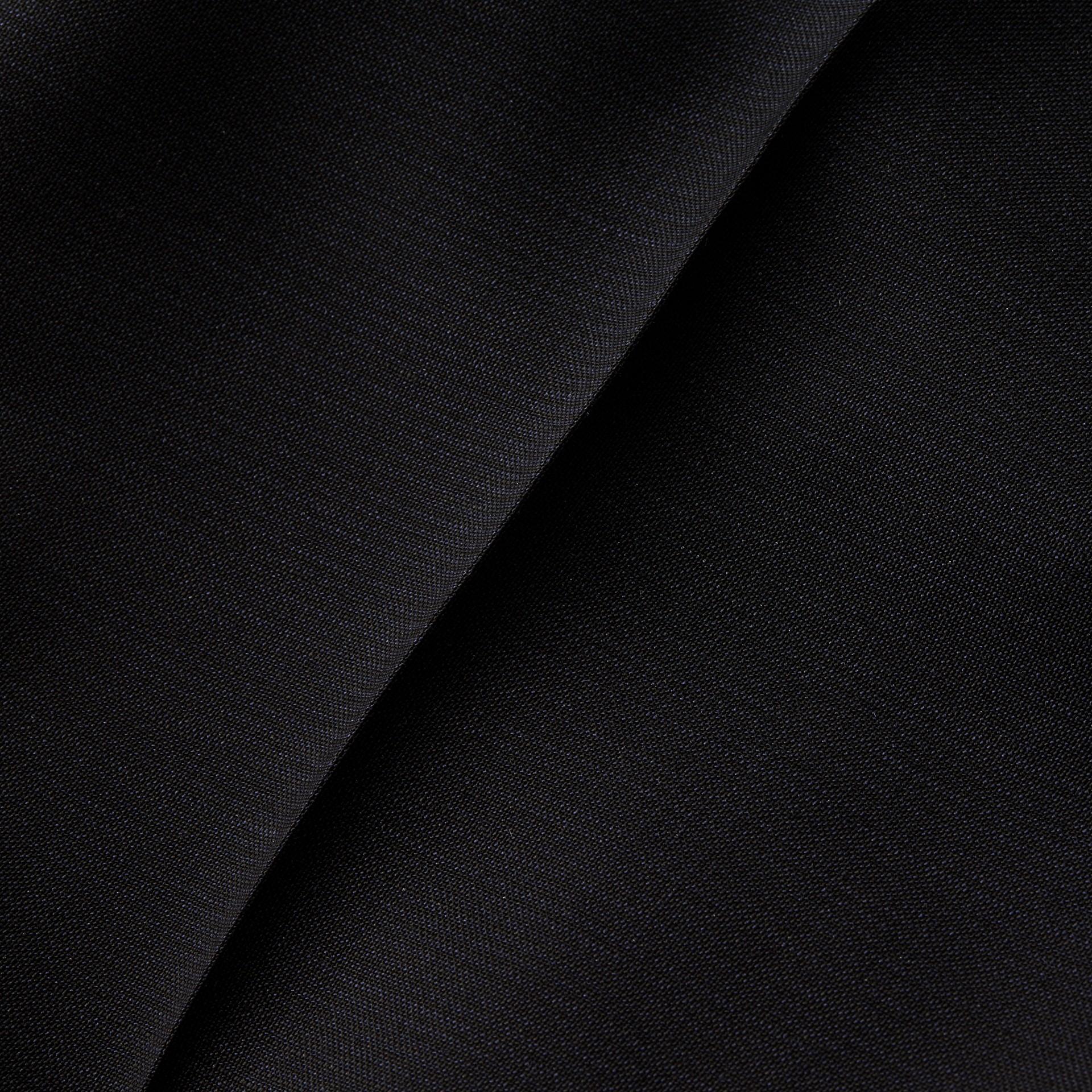 Blu peltro Pantaloni a fondo ampio in misto mohair e lana - immagine della galleria 2
