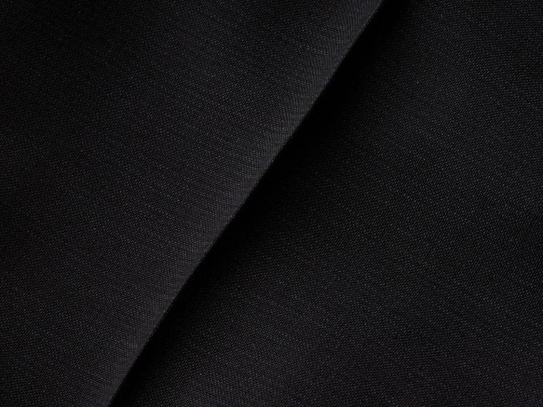 Pewter blue Calças de lã e mohair com boca de sino - cell image 1