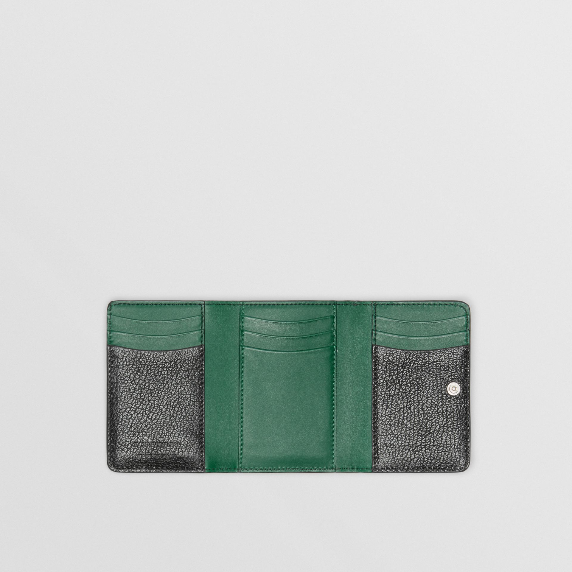 Small D-ring Leather Wallet in Black - Women | Burberry Canada - gallery image 2