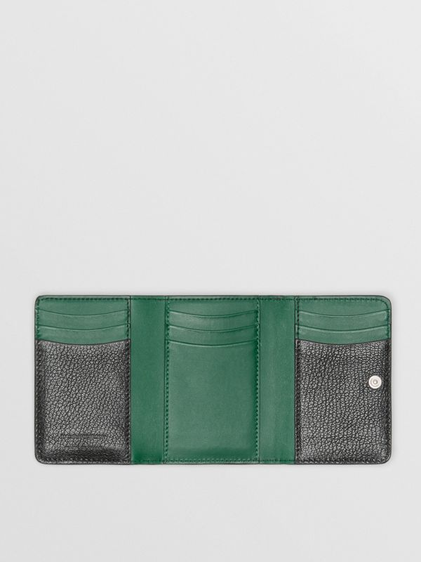 Small D-ring Leather Wallet in Black - Women | Burberry Canada - cell image 2
