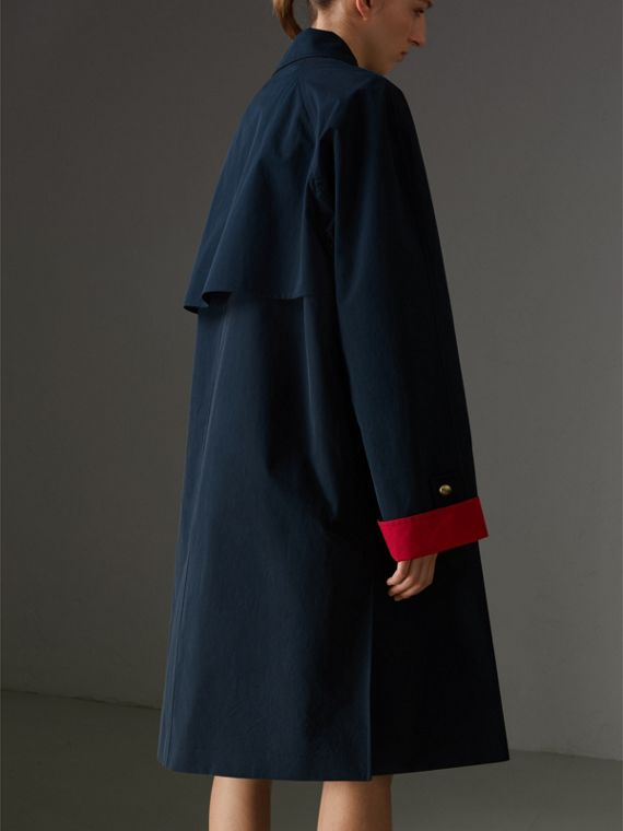 Reissued Waxed Cotton Gabardine Car Coat in Navy - Women | Burberry United States - cell image 2