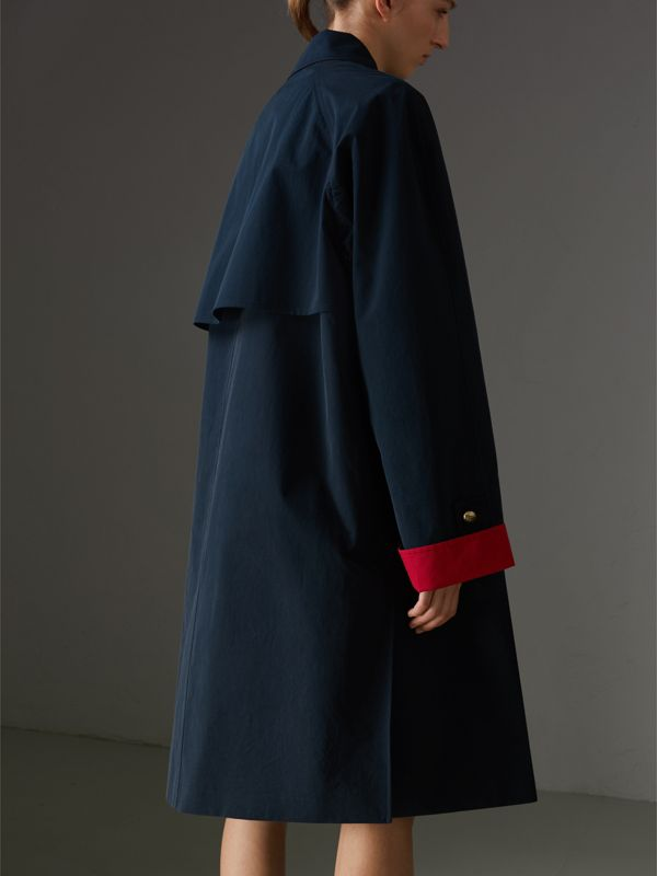 Reissued Waxed Cotton Gabardine Car Coat in Navy - Women | Burberry - cell image 2