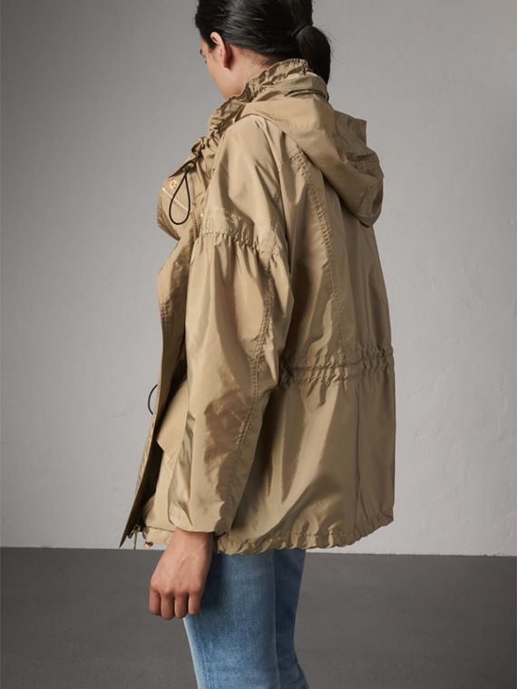 Packaway Hood Lightweight Rain Jacket in Sisal - Women | Burberry - cell image 2