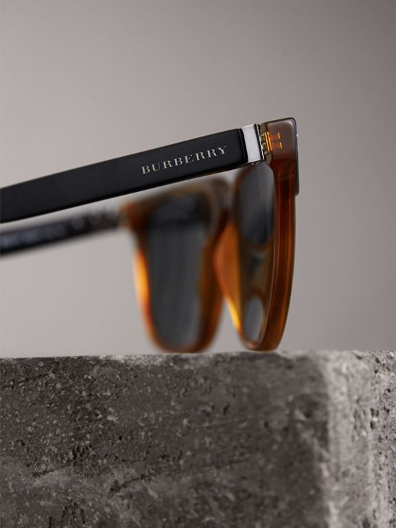 Square Frame Sunglasses in Light Brown - Men | Burberry - cell image 1