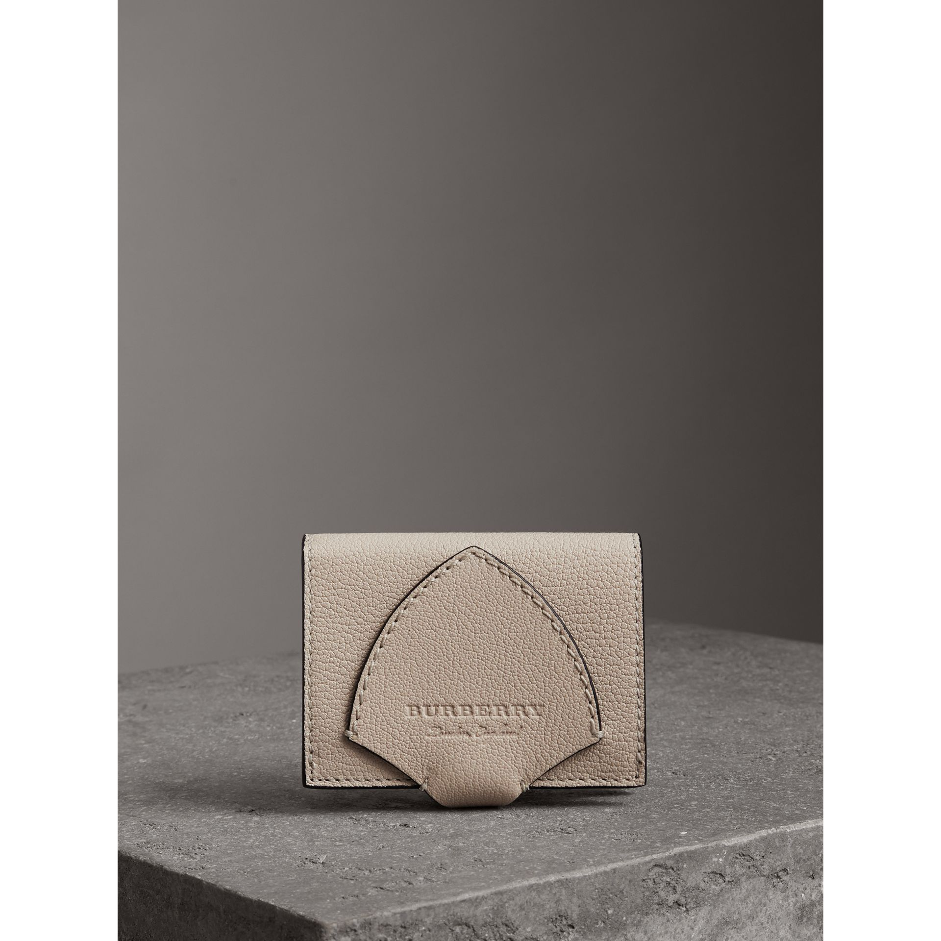 Equestrian Shield Two-tone Leather Folding Wallet in Stone - Women | Burberry United States - gallery image 4