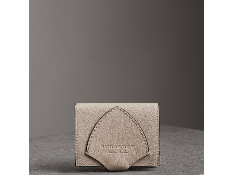 Equestrian Shield Two-tone Leather Folding Wallet in Stone - Women | Burberry United Kingdom - cell image 4