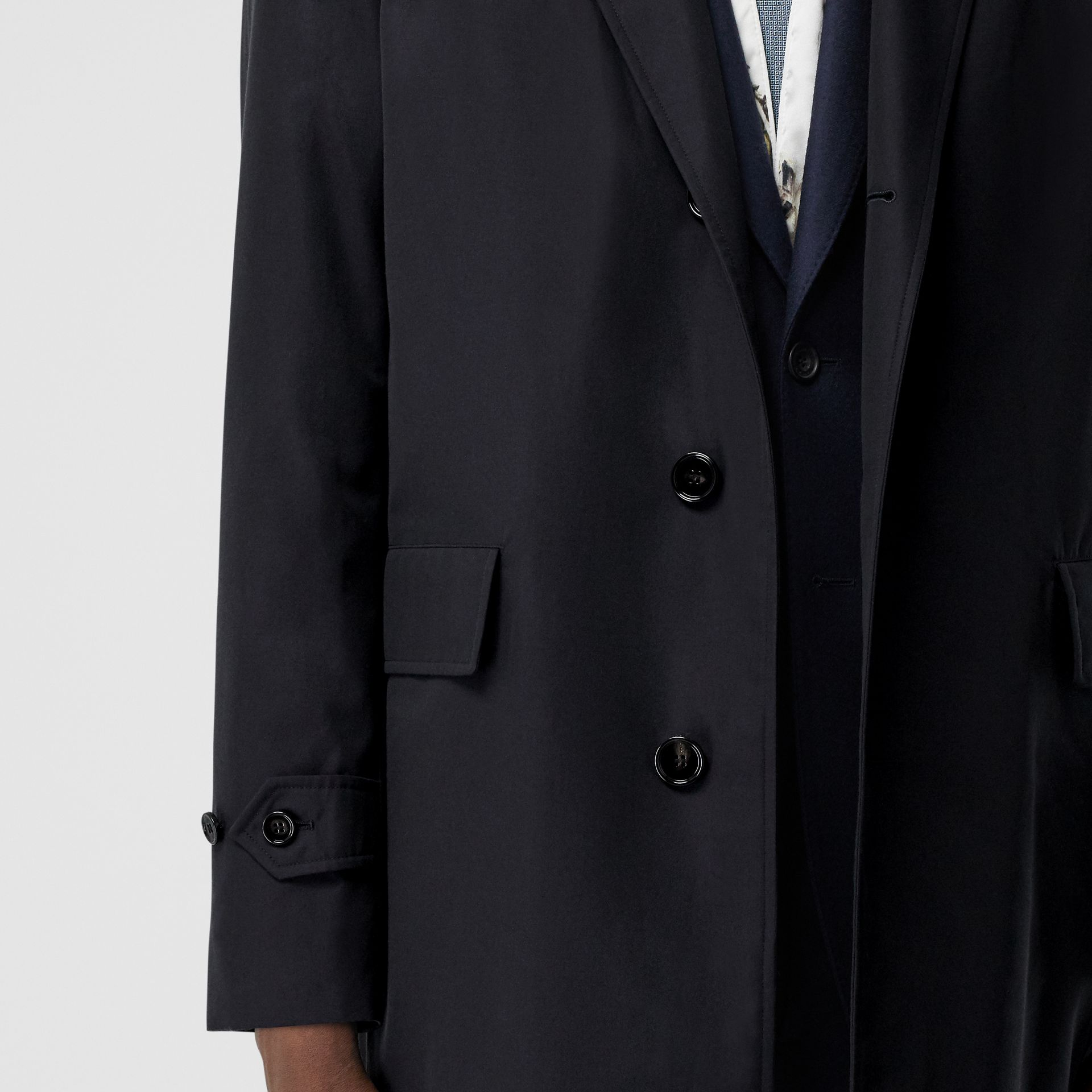 Cotton Gabardine Lab Coat in Midnight Navy - Men | Burberry - gallery image 4