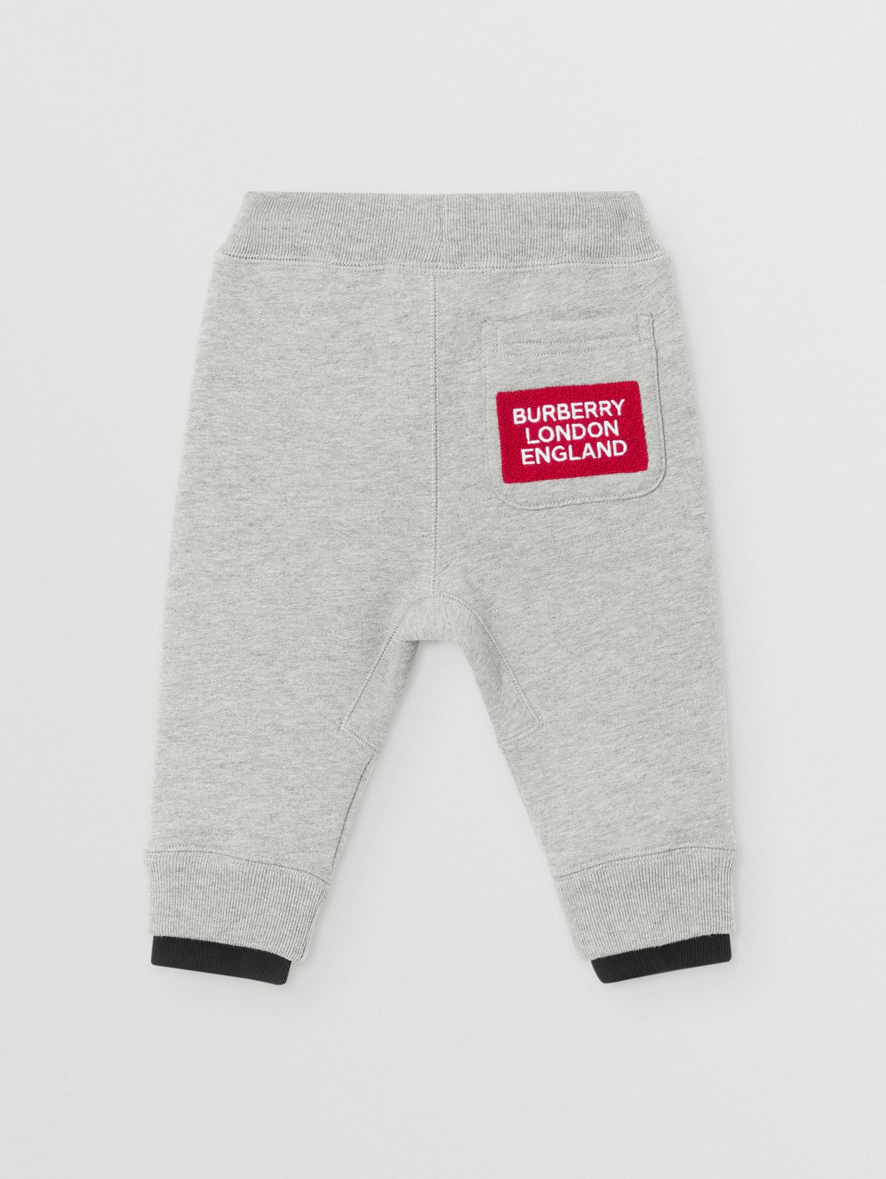 Logo Detail Jersey Trackpants in Grey Melange