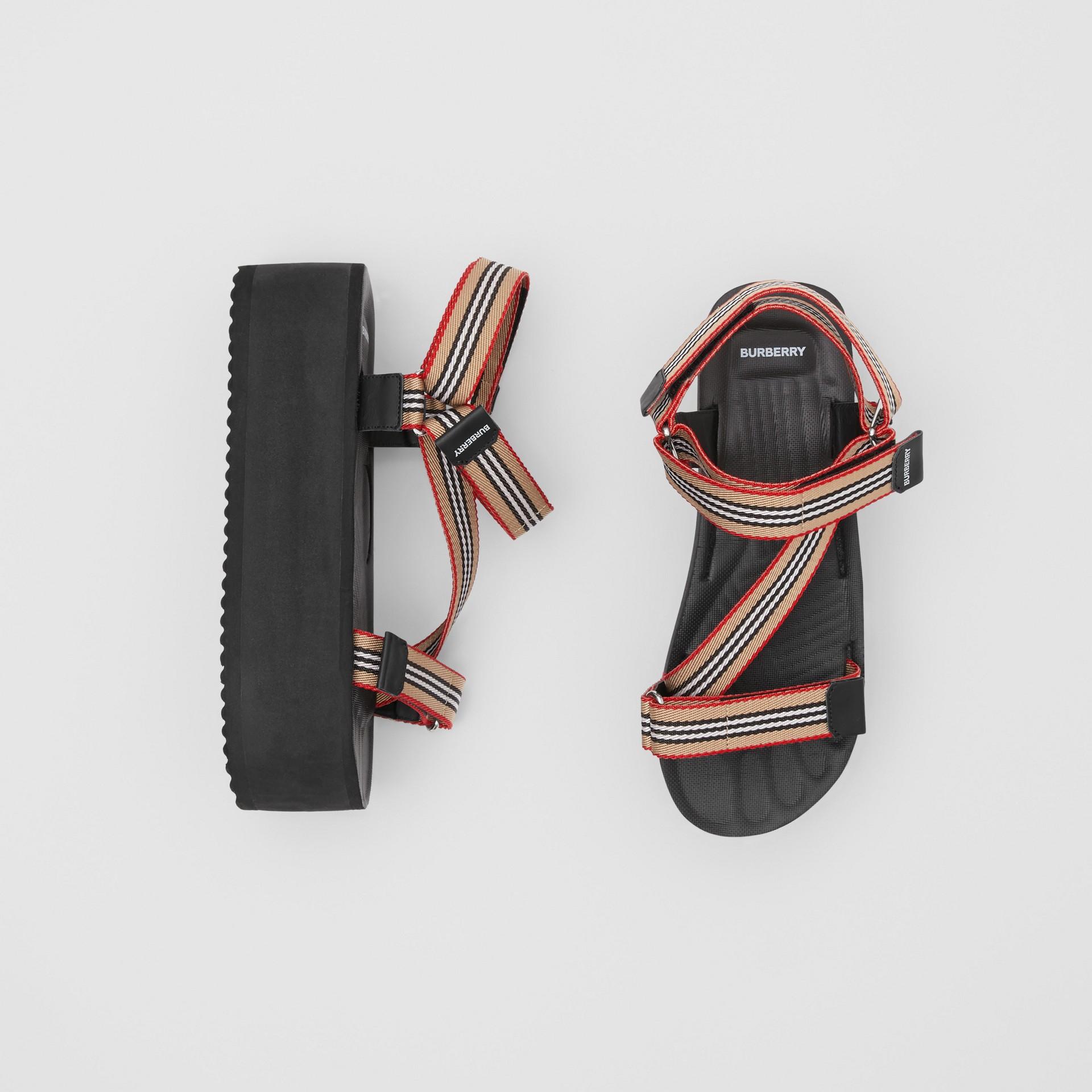 Icon Stripe Sandals in Archive Beige - Women | Burberry United Kingdom - gallery image 0