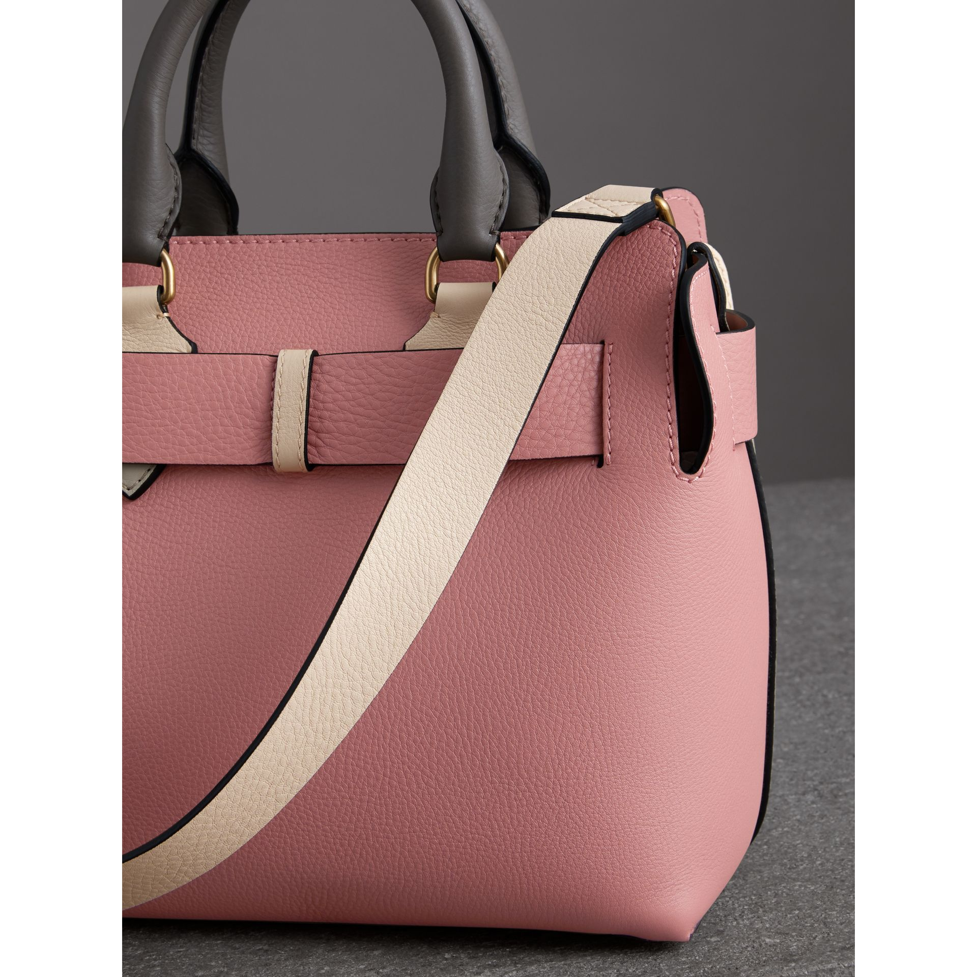 The Small Tri-tone Leather Belt Bag in Limestone/dusty Rose - Women | Burberry United Kingdom - gallery image 4