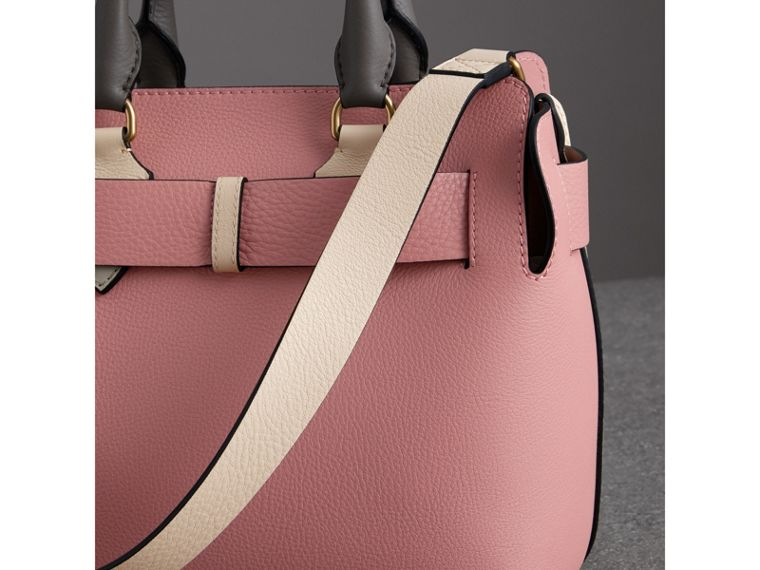 The Small Tri-tone Leather Belt Bag in Limestone/dusty Rose - Women | Burberry United Kingdom - cell image 4
