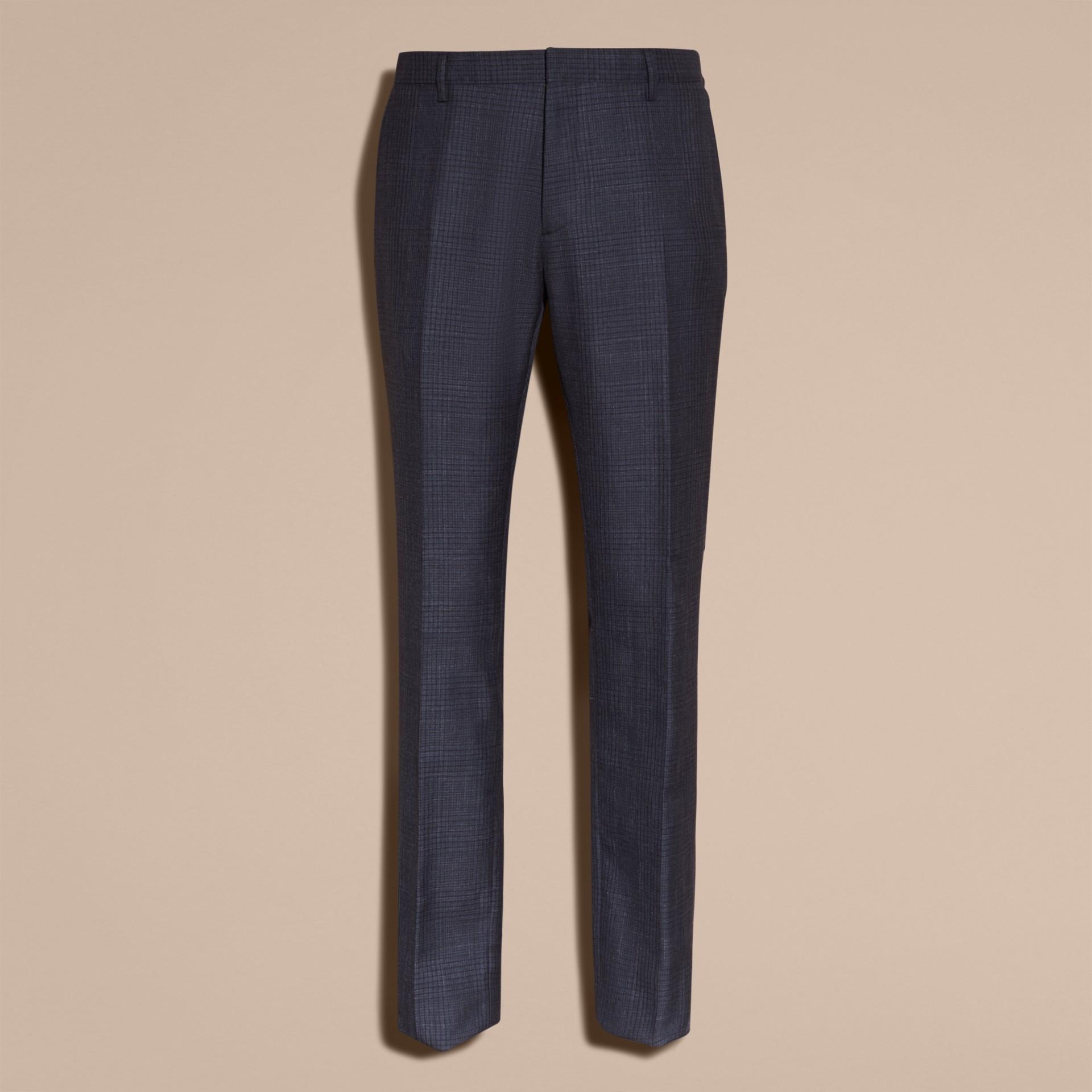 Modern Fit Wool Silk Blend Half-canvas Suit - gallery image 10