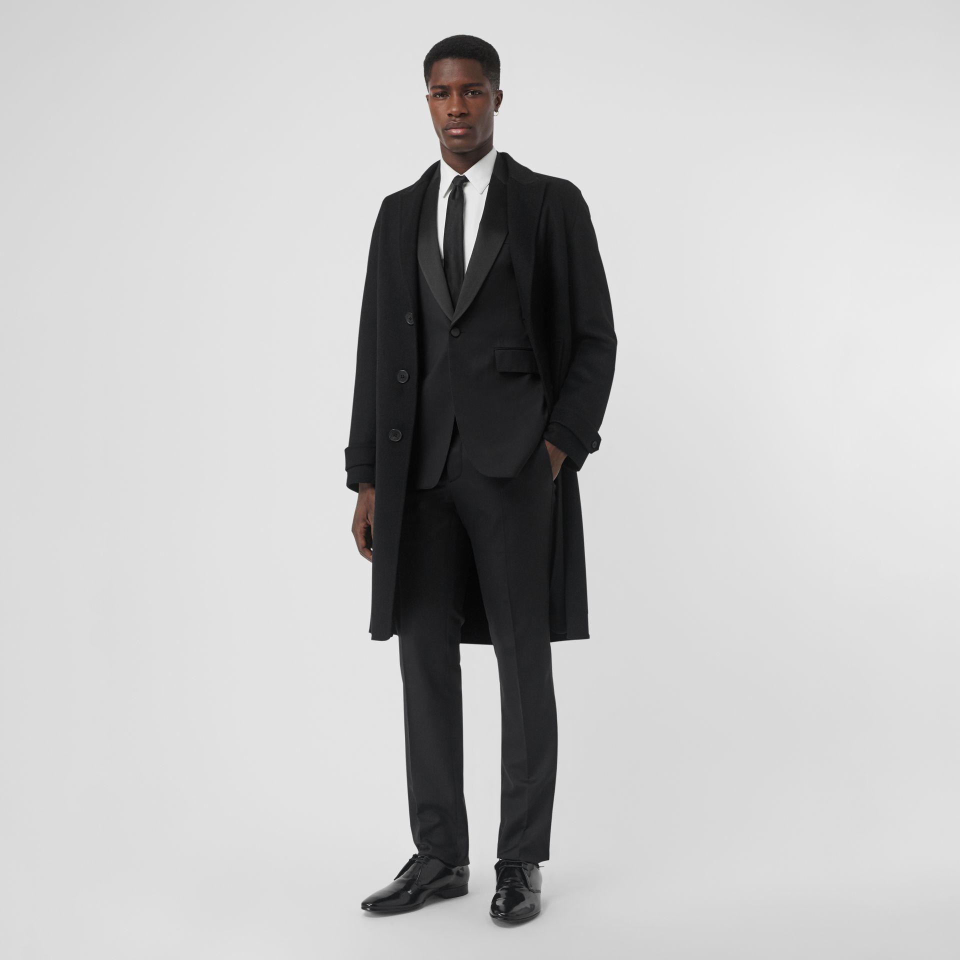Classic Fit Wool Silk Tuxedo in Black - Men | Burberry - gallery image 0