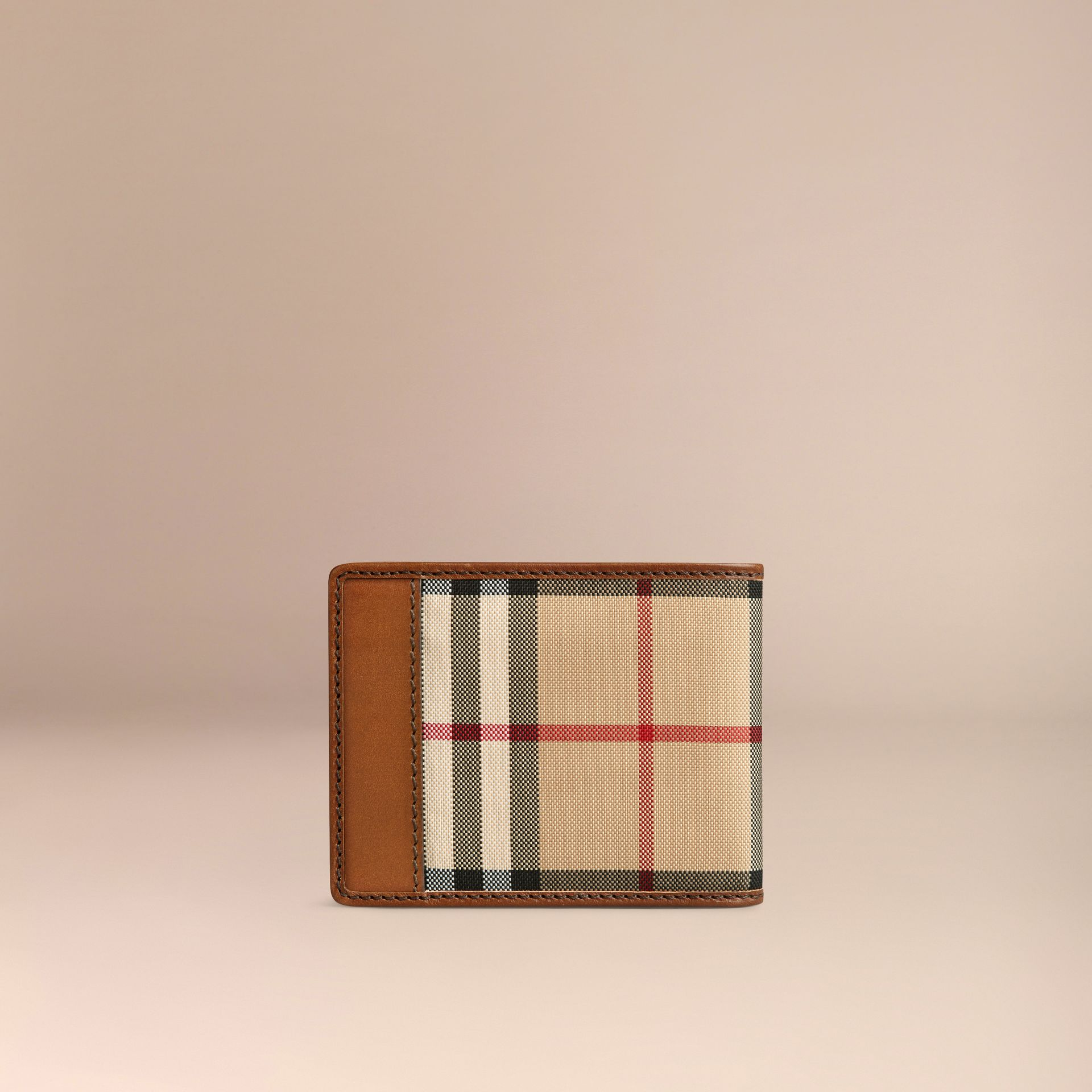 Horseferry Check Wallet Tan - gallery image 3