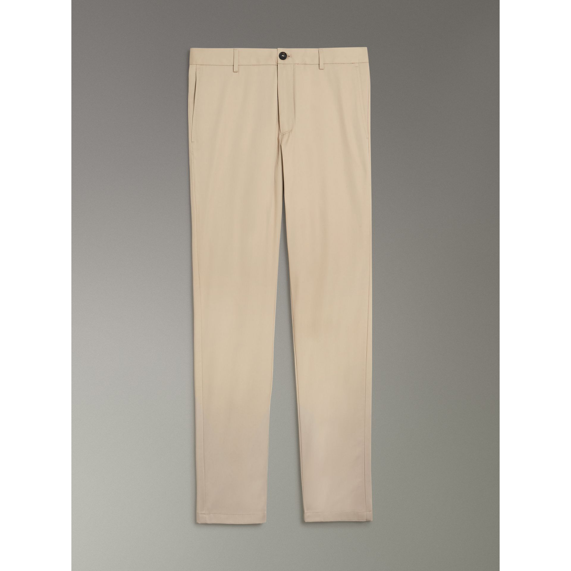 Slim Fit Cotton Chinos in Stone - Men | Burberry - gallery image 3