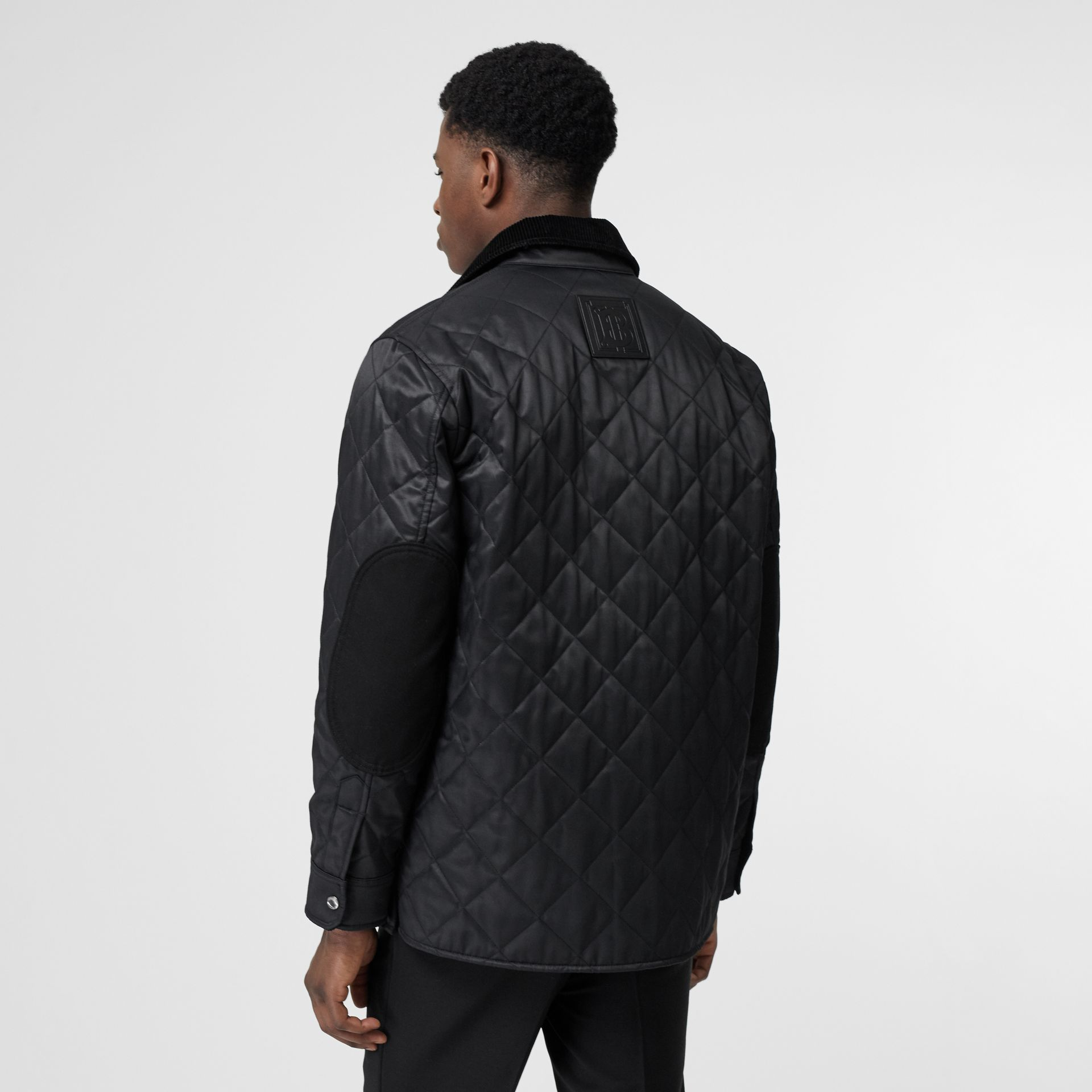 Diamond Quilted Thermoregulated Overshirt in Black - Men | Burberry - gallery image 1