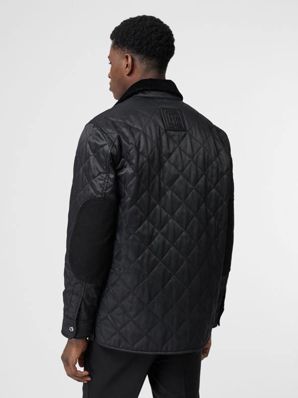 Diamond Quilted Thermoregulated Overshirt in Black - Men | Burberry - cell image 2