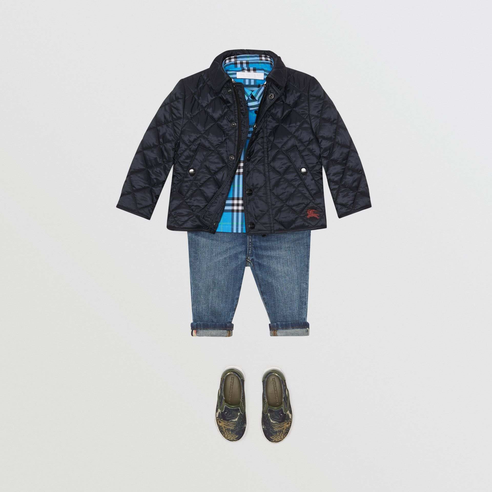 Lightweight Diamond Quilted Jacket in Ink - Children | Burberry - gallery image 2