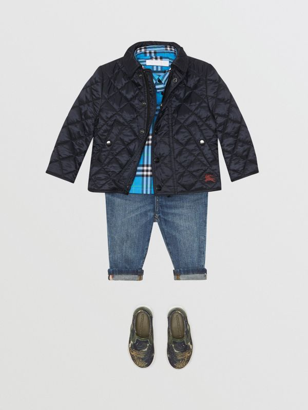Lightweight Diamond Quilted Jacket in Ink - Children | Burberry - cell image 2