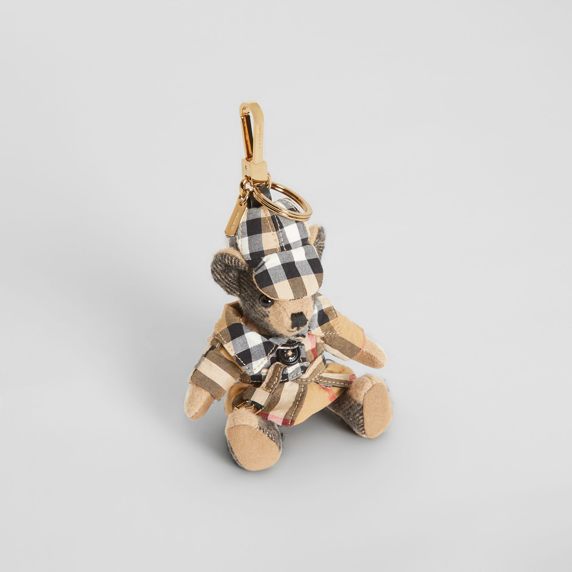 Thomas Bear Charm in Vintage Check Trench Coat in Camel | Burberry - gallery image 0