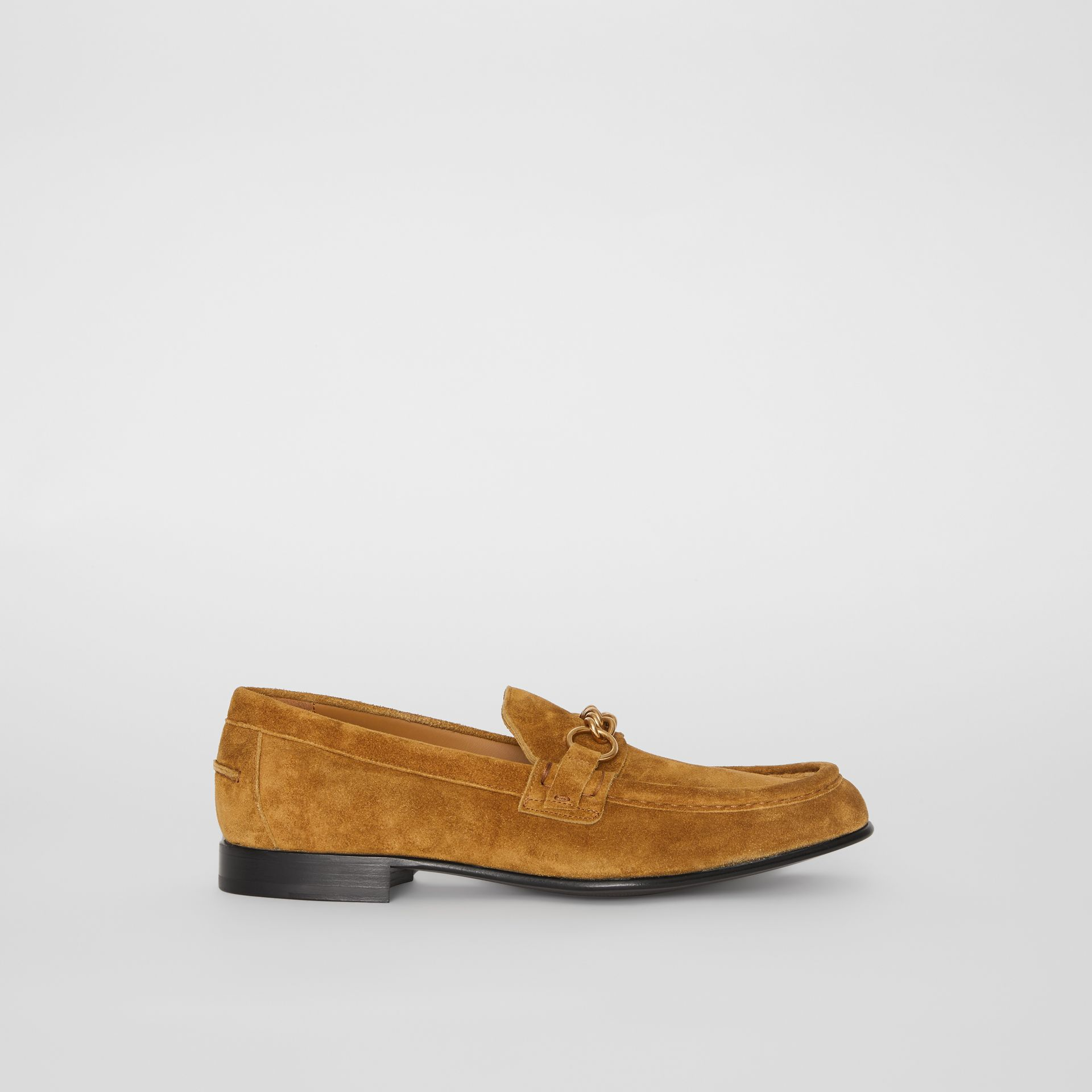 The Suede Link Loafer in Malt Brown - Men | Burberry - gallery image 5