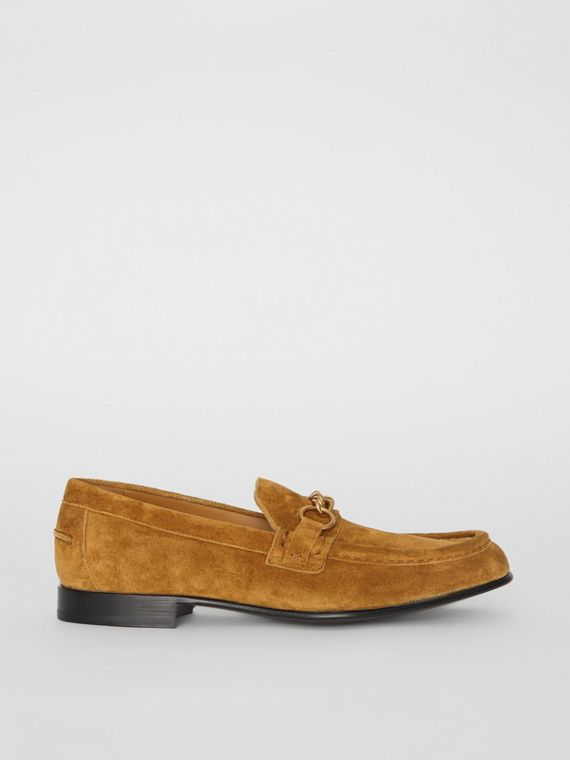 The Suede Link Loafer in Malt Brown