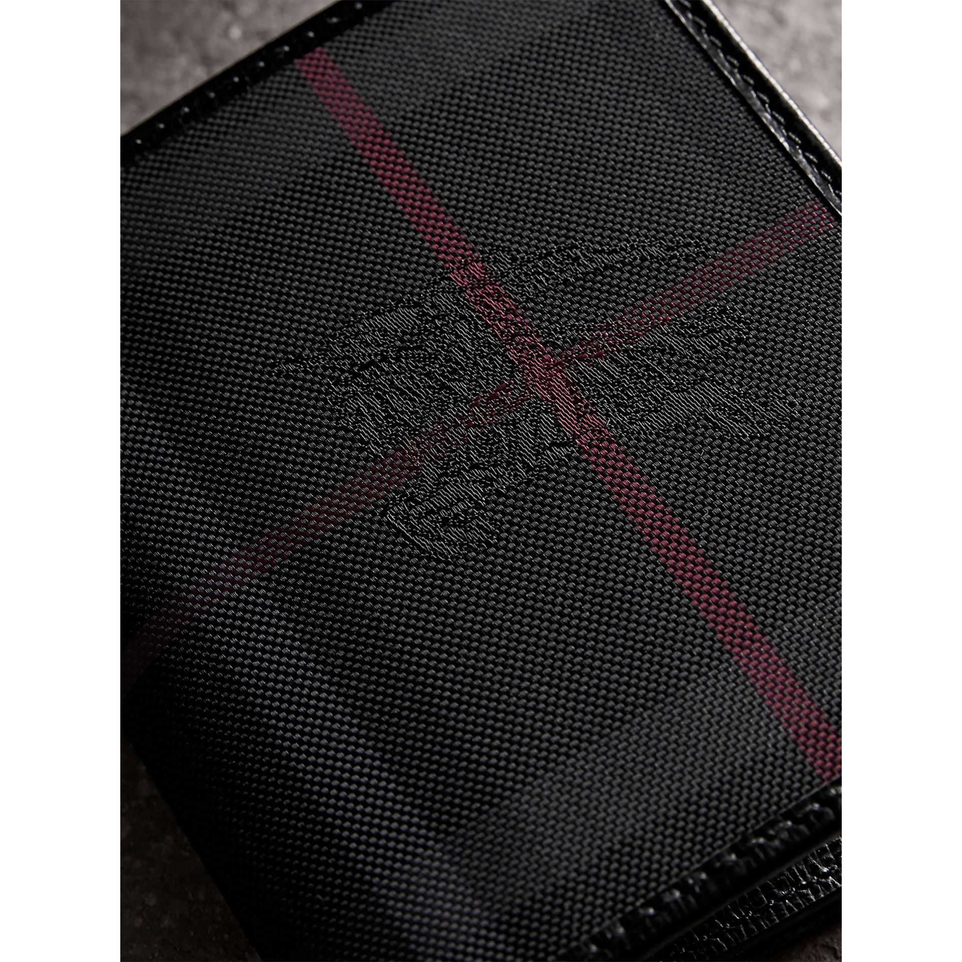 Horseferry Check ID Wallet in Charcoal/black - Men | Burberry - gallery image 2
