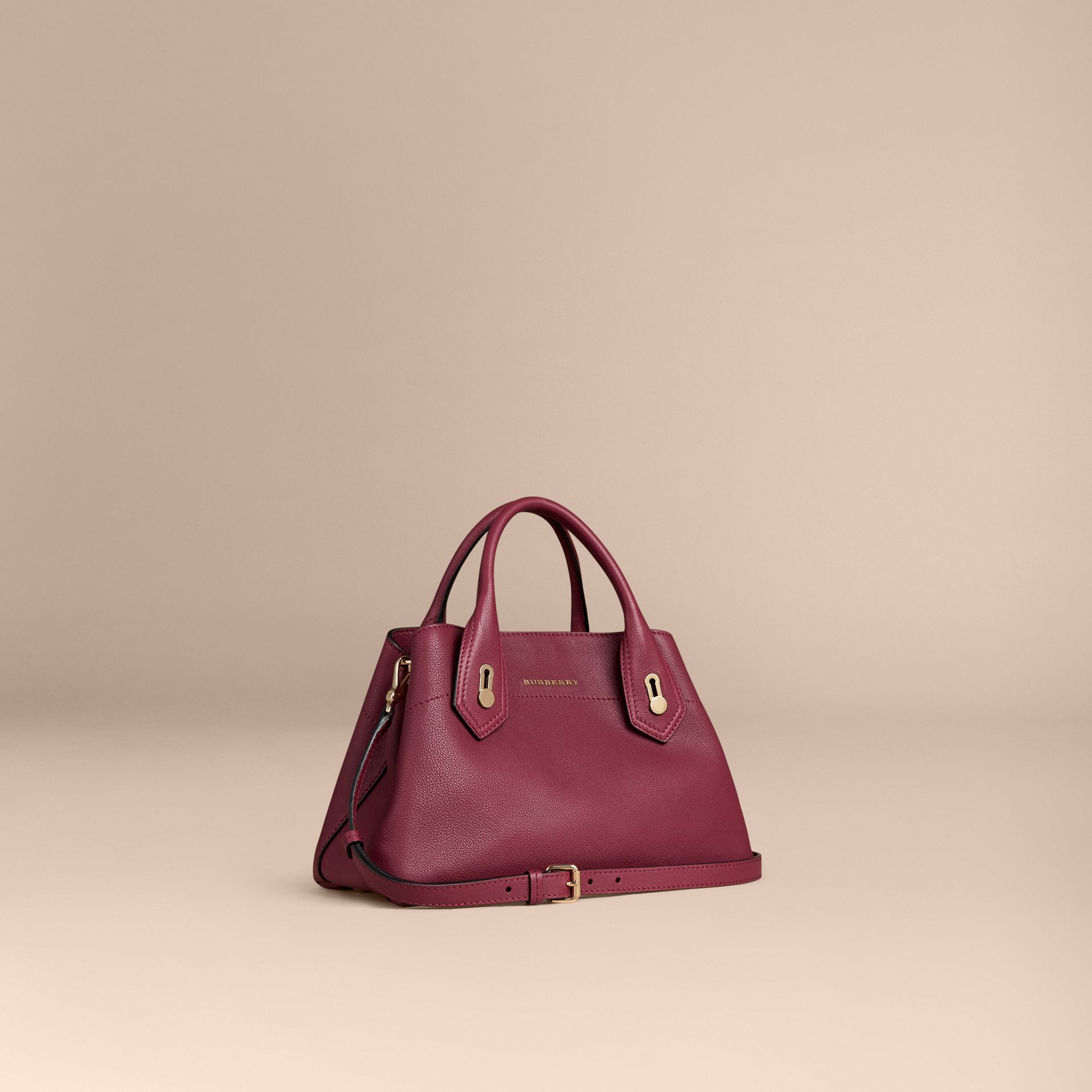 Dark plum The Small Milton in Grainy Leather Dark Plum - gallery image 1