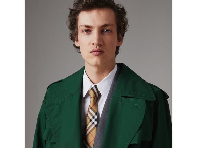 Modern Cut Vintage Check Silk Tie in Antique Yellow - Men | Burberry Australia - cell image 2
