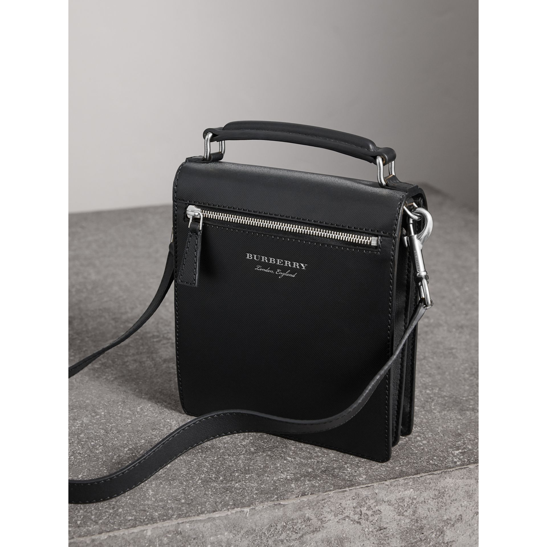 The Small DK88 Satchel in Black - Men | Burberry United Kingdom - gallery image 4