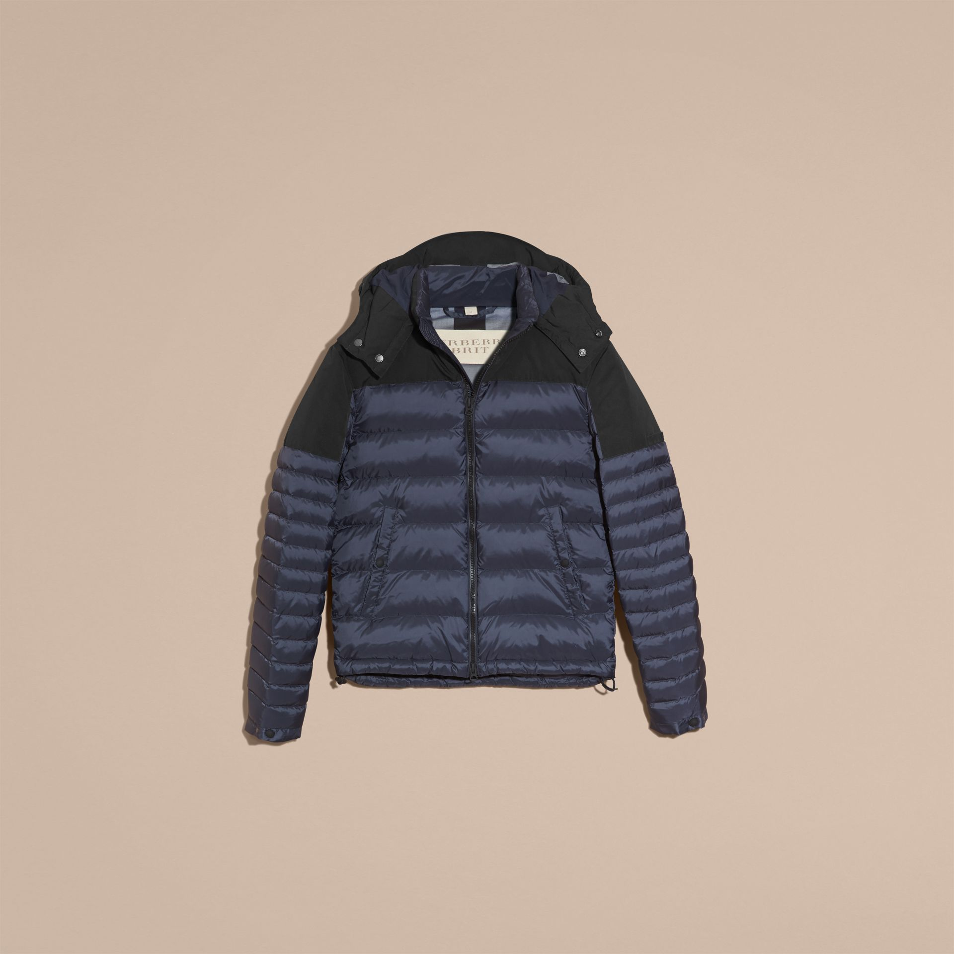 Navy Mid-weight Down-filled Technical Puffer Jacket Navy - gallery image 4
