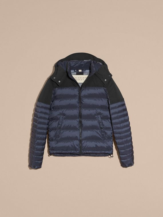 Navy Mid-weight Down-filled Technical Puffer Jacket Navy - cell image 3