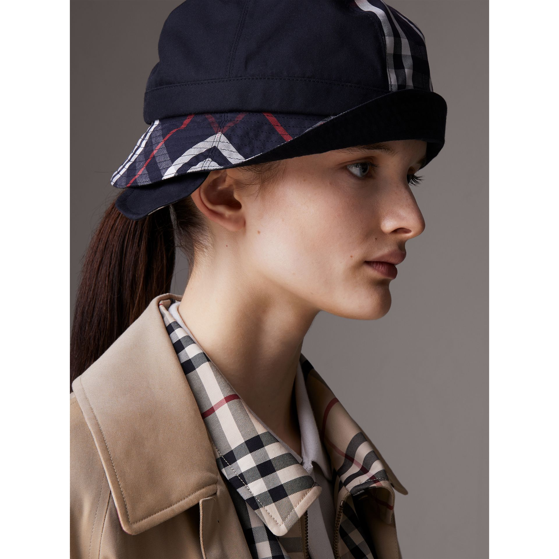 Gosha x Burberry Bucket Hat in Navy | Burberry United Kingdom - gallery image 5