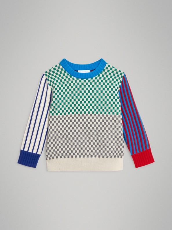 Graphic Cashmere Jacquard Sweater in Multicolour