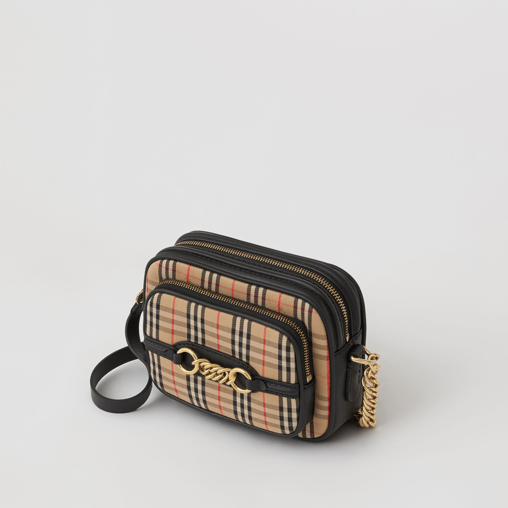 The 1983 Check Link Camera Bag in Black - Women | Burberry - gallery image 2