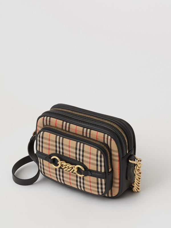 The 1983 Check Link Camera Bag in Black - Women | Burberry - cell image 2