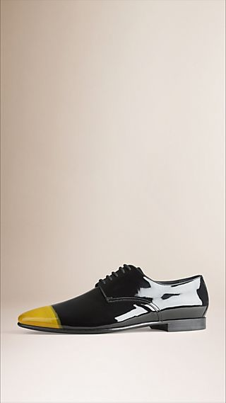 Painted Patent Leather Derby Shoes
