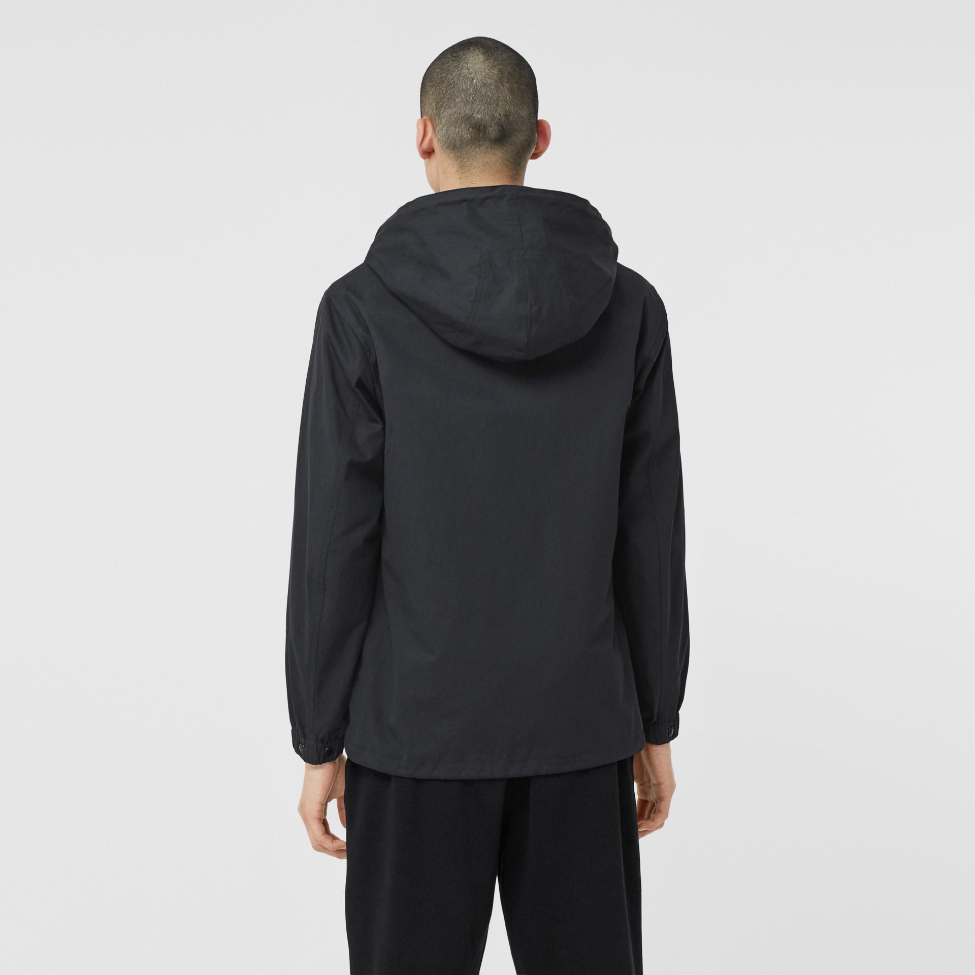 Detachable Hood Logo Appliqué Lightweight Jacket in Navy - Men | Burberry - gallery image 2