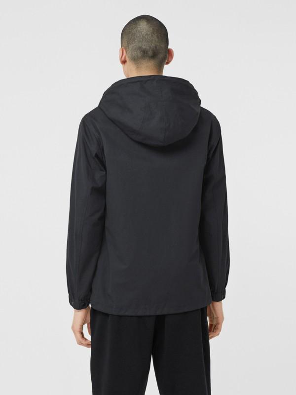 Detachable Hood Logo Appliqué Lightweight Jacket in Navy - Men | Burberry - cell image 2