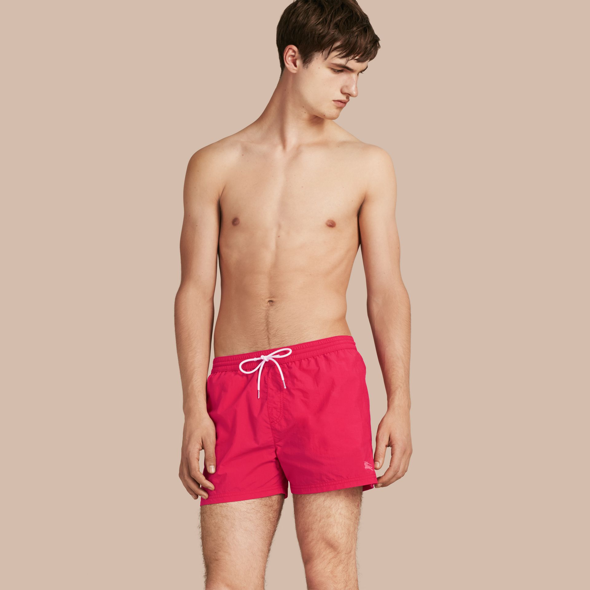 Bright crimson pink Lightweight Swim Shorts - gallery image 1